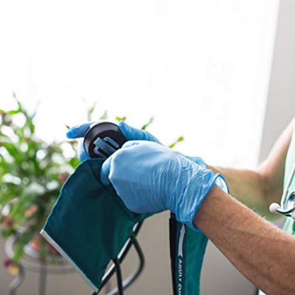 Medical Blue Nitrile Gloves - 4 mil, Latex Free, Powder Free, Textured, Disposable, Non-Sterile