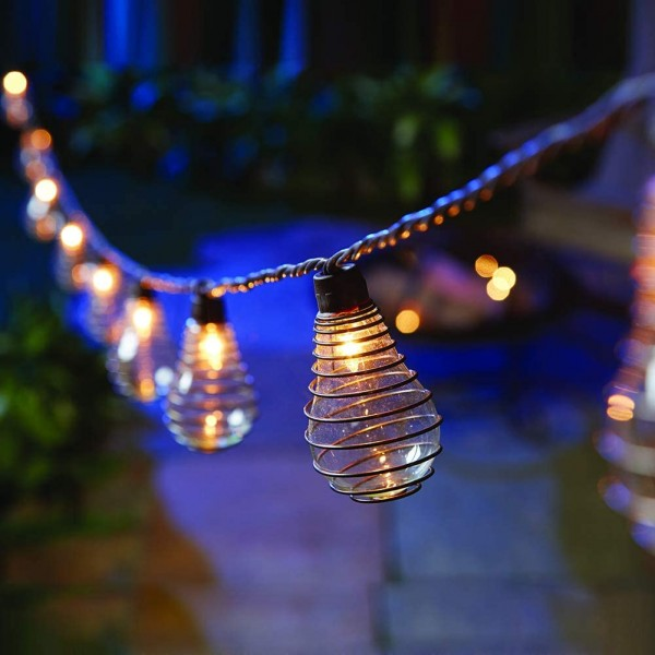 Outdoor Patio String Lights, 10 PS50 Bulbs with An...