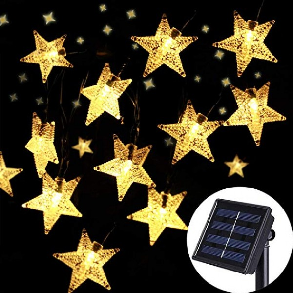 Solar Outdoor String Lights - Waterproof 30ft 50 ...