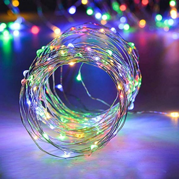 Indoor Fairy String Lights - USB 33ft 100 LED Waterproof Ambiance Twinkle Lights with Remote Control for Apartment Party Wedding Garden Decor