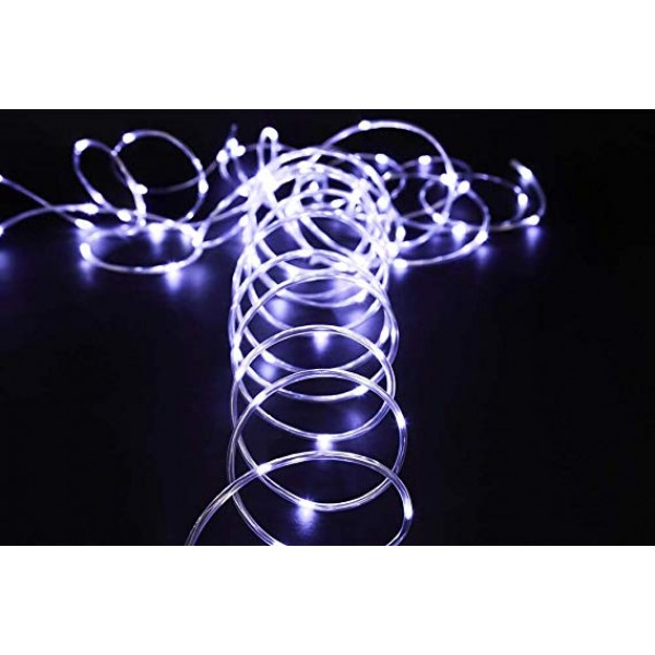 Solar Outdoor String Lights 100LED 33Ft Copper Fairy String Lights Waterproof LED Rope Lights for Patio Easter Christmas Party