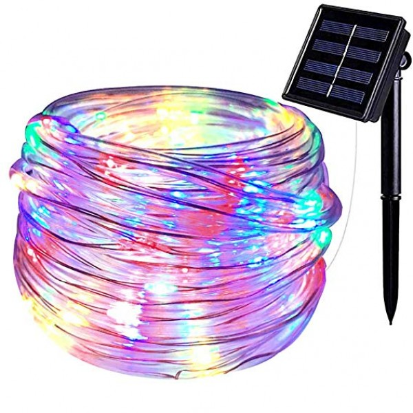 Solar Outdoor String Lights 100LED 33Ft Copper Fai...